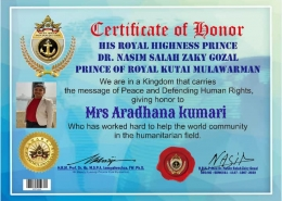 Honour from: Kutai Mulawarman Kingdom