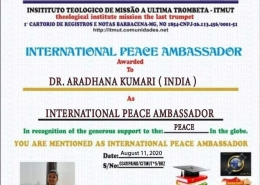 International Peace Ambassador;Brazil